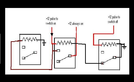 Latching Relay on a c circuit diagram